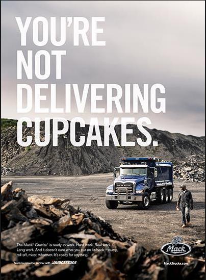 B2B ad for Mack truck