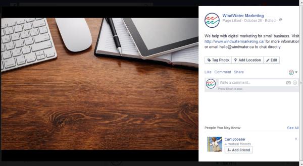 Facebook marketing WindWater Marketing