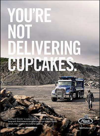 B2B ad for Mack truck